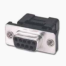 9 Pin Female D-Sub IDC Connector, Metal Face