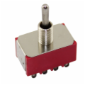 (ON) OFF (ON) 4PDT Miniature Toggle Switch