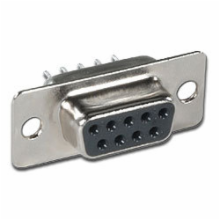 9 Pin Female PC Mount D-Sub Connector