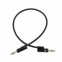 Pomona 12in Black Banana Plug Patch Cord