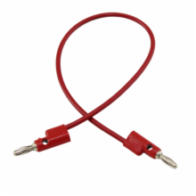 Pomona 12in Red Banana Plug Patch Cord