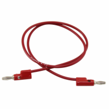 Pomona 24in Red Banana Plug Patch Cord