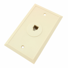 6 Position/6 Conductor Single Telephone Jack Wall Plate
