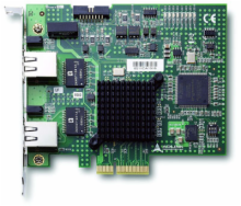 PCI Express 2-CH Gigabit Ethernet Vision Interface Card
