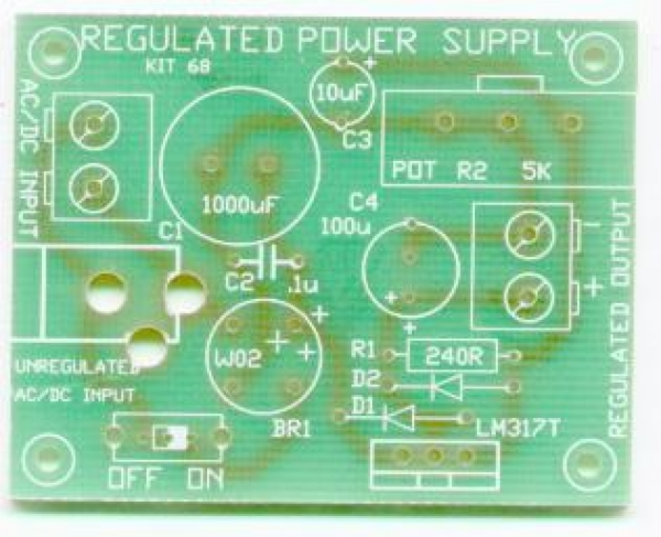 POWER SUPPLY USING LM317T