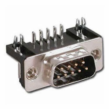 9 Pin Male D-Sub Right Angle PC Connector