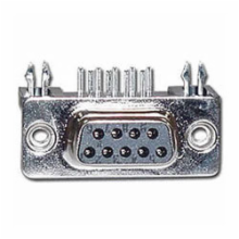 9 Pin Female D-Sub Right Angle PC Connector