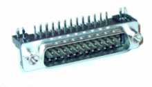 25 Pin Male D-Sub Right Angle PC Connector