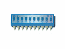 10 Pole Heavy Duty IC Type Dip Switch with Gold Contacts