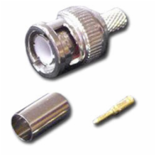 BNC Male Connector, Crimp Style for RG58/U Cable