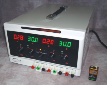 Triple Output Bench Power Supply up to 60V & up to 5A
