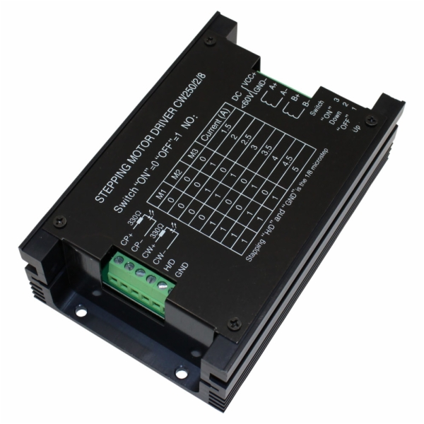 Stepper motor driver with 5 amp max output and 20 60 volt for Stepping motors and their microprocessor controls