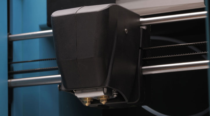 Close-up view of the Robox printer extruder/head