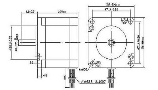 nema 23 stepper motor wiring diagram