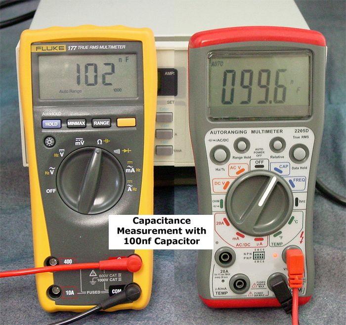 Capacitance Measurement with 100nf Capacitor