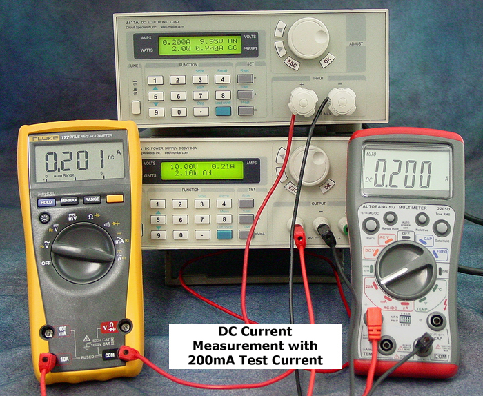 DC Current Measurement with 200mA Test Current