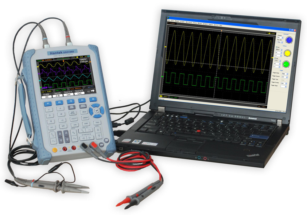 Digital Oscilloscope Pc : Hantek mhz handheld oscilloscope with digital multimeter
